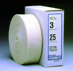 """TEX 91310325 3"""" x 25 Yd, Natural Fiber, Non-Sterile, Tubular Cotton (12 Rolls per Case)"""