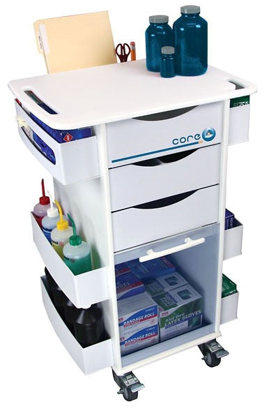 COP WU6352691 Blue, Rolling Organizer Cart with (3) Full Extension Drawer