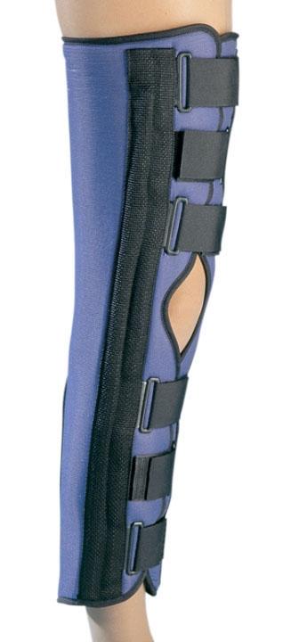 """DJO 7980025 Medium, 20"""" L, 16 to 19"""" Thigh Circumference, Foam/Mesh, Sturdy, Knee Splint with Adjustable Foam Pop Pad"""