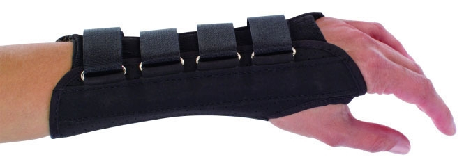 """DJO 7987017 Large, 9"""" L, 7.5 to 8.5"""" Wrist Circumference, Perforated Suede with Flannel Lining and Cotton Stockinette, Left, Contoured Wrist Support"""