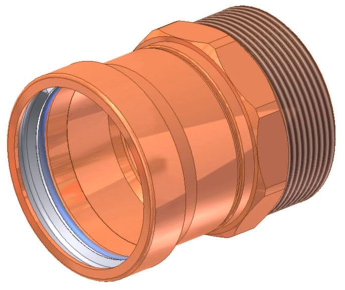 "2-1/2"" Copper Press Male Adapter, Press X MIP"