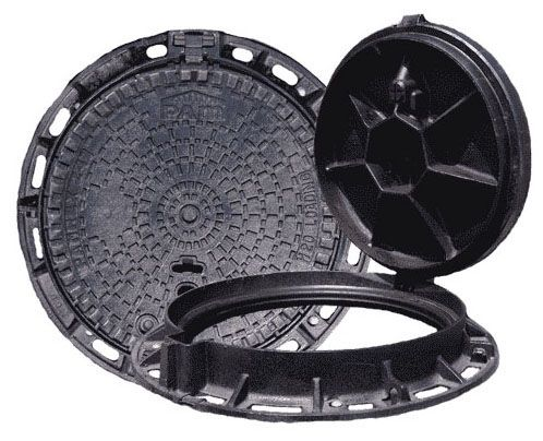"39-1/2"" x 5"" Frame, Logo Water, Ductile Iron, Circular, Manhole Frame and Cover"