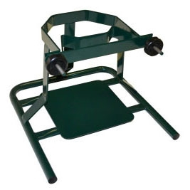 """MDA 670 18"""" x 18"""" x 13"""", Painted Green, Cylinder Stand with Removable Band"""