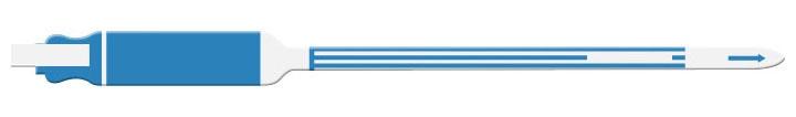 PCM 7102 Adult/Pediatric, Blue, Tri-Laminate Write-On, Self-Adhesive, Wristband (250 per Box)