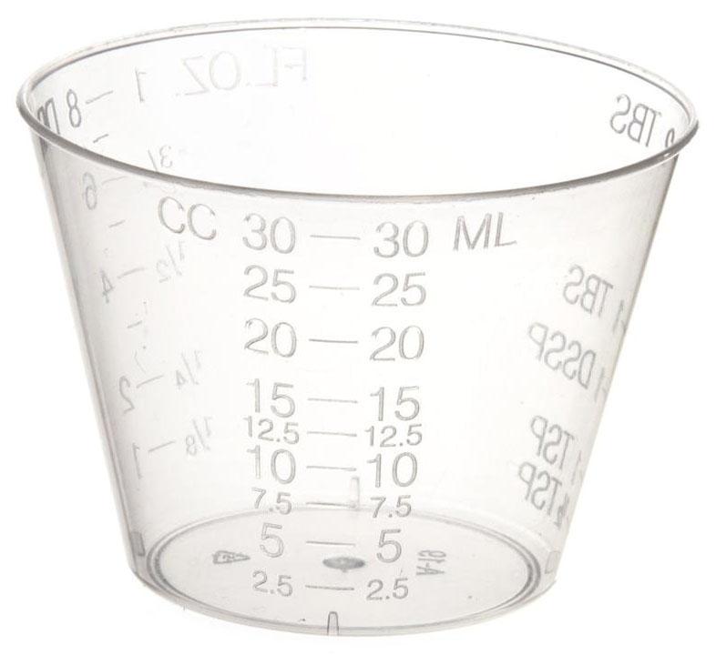 MDL DYND8888 1 Oz, Latex-Free, Translucent, Plastic, Non-Sterile, Graduated, Medicine Cup (100 per Pack)