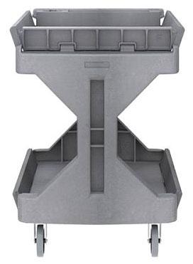 "AKR 30936 45-5/8"" x 24"" x 34-3/4"", 400 Lb, Non-Marking Polyurethane on Polyolefin, 4-Leg, Utility Cart"