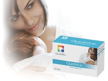 QUI 20109 3 Drop Sample, 25-Test, Urine, hCG Urine Test Kit (12 per Case)