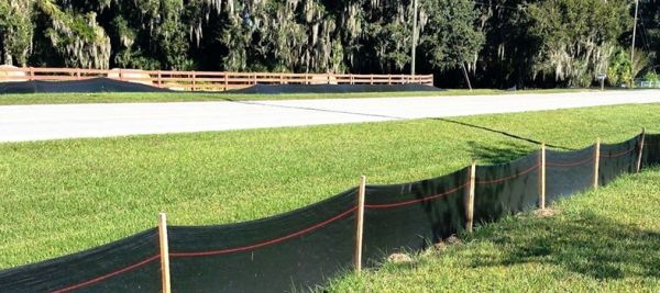 "3"" x 100', DOT Type III, Silt Fence with Post"