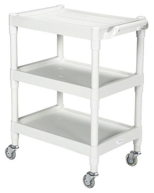 "BRE 63530 28"" x 17.5"" x 35"", 200 Lb, Light Gray, 4-Leg, Utility Cart"