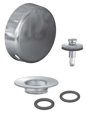 Watco Push & Pull Snap-In Tub W&O Trim Brushed Nickel