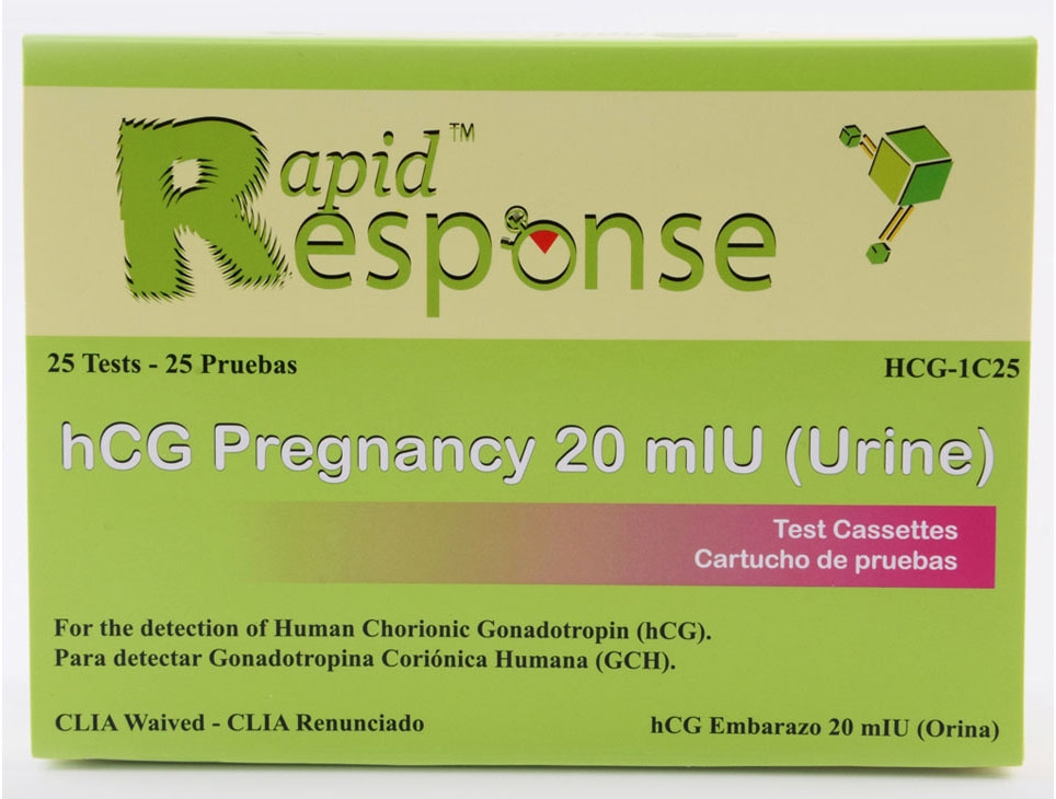 BNX HCG1C50 20 mIU/L Urine, 50-Test, hCG Pregnancy Test Cassette