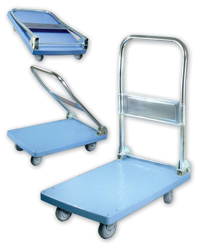 """CCM 3080CC 17-3/4"""" x 25-1/2"""", 265 Lb, ABS/Chrome Plated Steel, Foldable, Mini Dolly Folding Cart"""