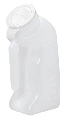GRX 3201 32 Oz, Translucent, HDPE, Single Use, Male Urinal with Lid