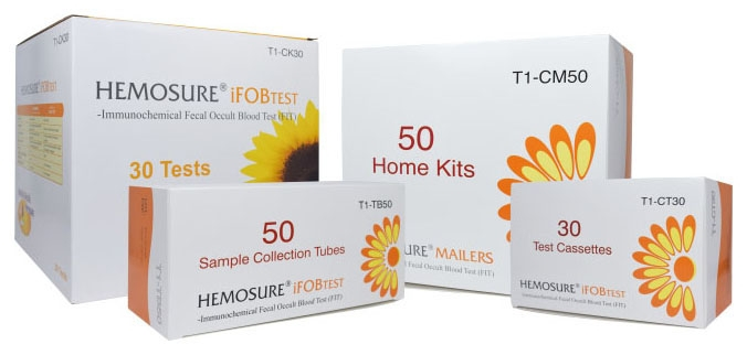 HEM T1CM50 Fecal Occult Blood Test Home Mailer Kit (50 per Box)
