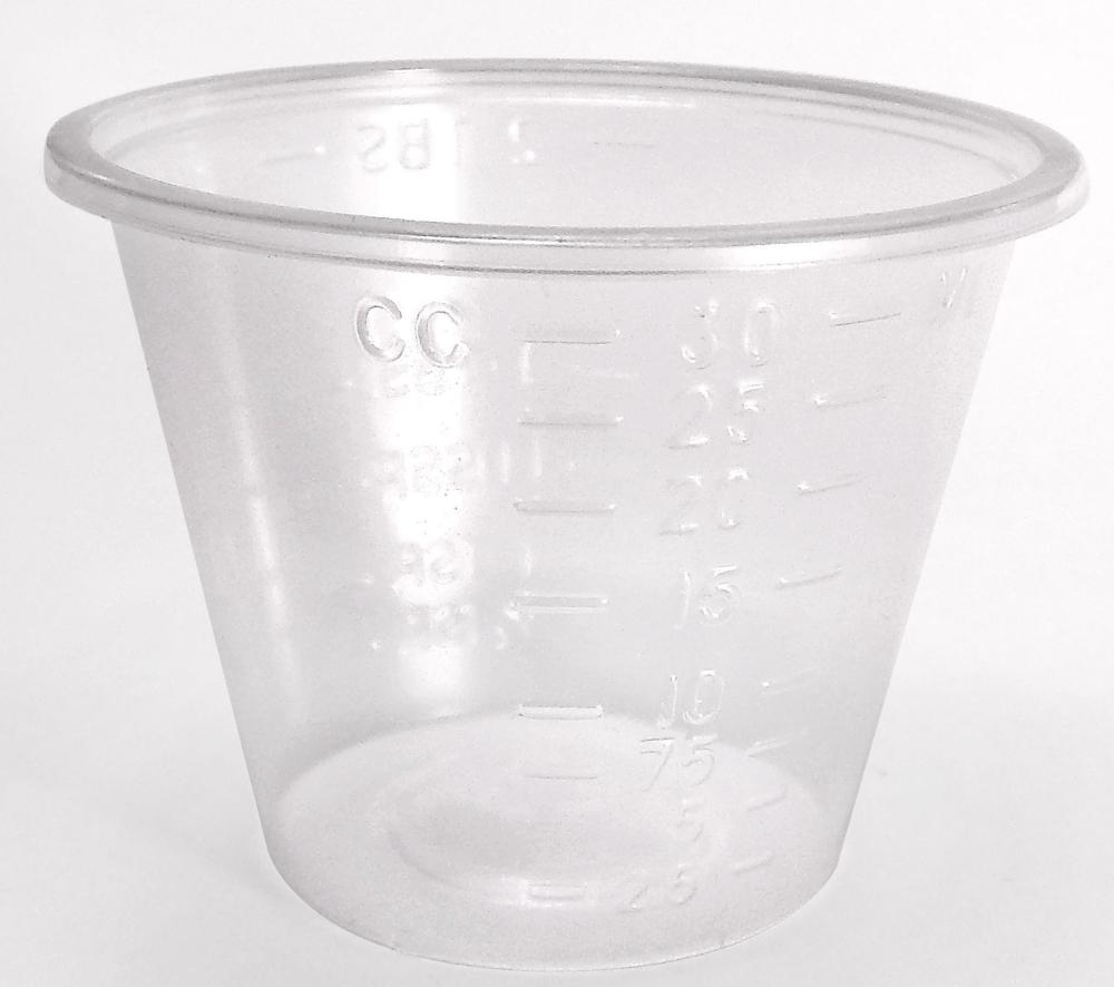 MEX 02301MC 1 Oz, Translucent, Polypropylene, Household Graduated, Non-Sterile, Medicine Cup (100 per Pack, 5000 per Case)