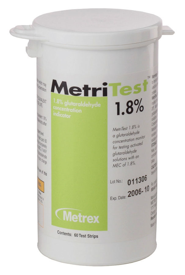 MET 10304 Bottle, Green, Liquid, Metritest Strip (60 per Bottle)