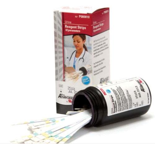 PRA P080010 5 to 10 pH, 10-Parameter, Urine Reagent Strip (100 per Bottle)