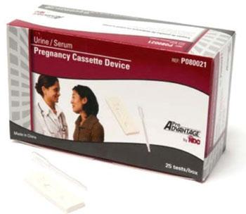 PRA P080021 Urine/Serum, hCG Pregnancy Cassette Device (25 per Box)