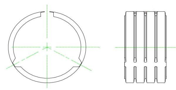 "24"" x 24"", Polypropylene, Dual Wall, Straight, Split Coupler"