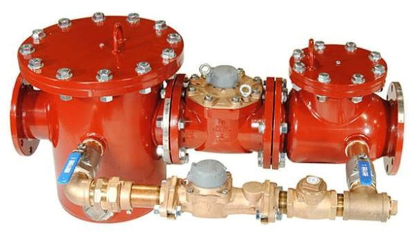 "6"", Lead-Free, Cast Iron, Cold Water Meter and Strainer with Disc Bypass for Fire Series Assemblies"