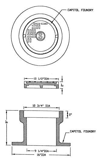 """16"""" x 8"""" Base, 10-1/2"""" x 2"""" Lid, Bearing Cleanout Box and Lid"""