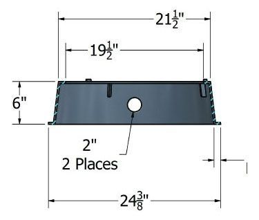 "12"" x 6"", Black, HDPE, Round, Enclosure Extension"