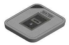 "20"" x 18"", Grey, Concrete, Water Logo, Cast Iron Reader, Meter Box Lid"