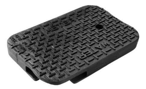 "11"" x 17"", Black, Polymer, Water Meter Logo, Meter Box Lid with AMR Pad Locator"