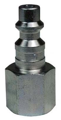 """1/4"""" x 1/4"""", Quick Connect x FPT, 500 PSI, Steel, Hex, Pneumatic Plug"""