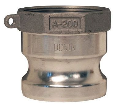 """6"""" x 6"""", Cam-Lock x FPT, 75 PSI, Aluminum, Straight, Cam and Groove Adapter"""