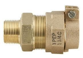 "3/4"" x 1"", MPT x Grip Joint, 2-9/16"" L, Lead-Free, C83600 Brass, Reducing, Coupling"