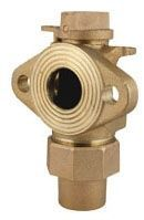 """2"""" Valve, 2"""" Pipe, Flare Copper x Meter Flanged, Brass, Angle Ball Meter Valve"""