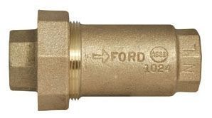 """3/4"""", FPT x FPT, 175 PSI, Lead-Free, Brass, Straight, Dual Cartridge Check Valve"""