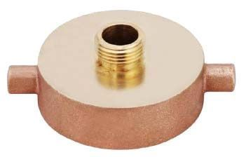 """2-1/2"""" x 2"""", FNST x MPT, 300 PSI CWP, Lead-Free, Brass, Reducing, Fire Hydrant Adapter"""