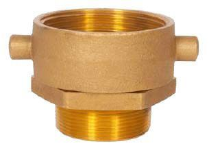"""2-1/2"""" x 2"""", FNST x MPT, Lead-Free, Brass, Reducing, Swivel, Hydrant Adapter"""