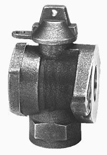 "2"" Meter, 2"" Pipe, FPT x Meter Flanged, 300 PSIG, Lead-Free, Cast Brass Alloy, 1/4 Turn, Lock Wing, Ball, Angle, Meter Valve"