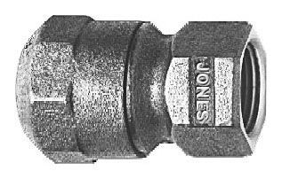 """2"""" x 2"""", CTS PE 110 Conductive Compression x FPT, Lead-Free, Fluorocarbon Coated, Cast, Brass Alloy, Straight, Coupling"""