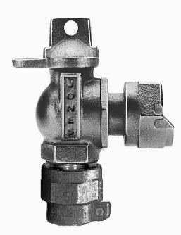 """1"""" Meter, 1"""" Pipe, CTS Pack Joint x Meter Swivel Nut, 300 PSIG, Lead-Free, Cast Brass Alloy, 1/4 Turn, Lock Wing, Ball, Angle, Meter Valve"""
