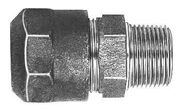 "2"" x 2"", CTS 110 Conductive Compression x MPT, Lead-Free, Fluorocarbon Coated, Cast, Brass Alloy, Straight, Coupling"