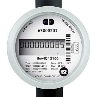 "5/8"" x 3/4"" Meter, 1"" NPT, 7-1/2"" L, 250 PSI, 25 GPM, IP68, Lead-Free, Polyphenylene Sulfide Housing, Stainless Steel Reflector, Encoded Output, Electronic Ultrasonic Water Meter"