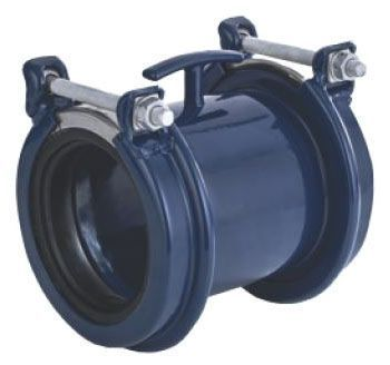 "6"" x 6"", 6.42 to 7.68"" OD Pipe, Lead-Free, Fusion Bonded Epoxy Coated, Wide Range, Straight, Coupling"