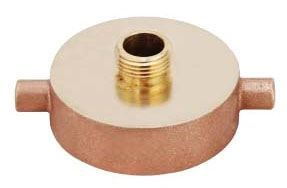 """2-1/2"""" x 3/4"""", FNST x MPT, 300 PSI CWP, Lead-Free, Brass, Reducing, Fire Hydrant Adapter"""
