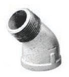 MGLST4506 1-1/4 GALV 45 ST ELL