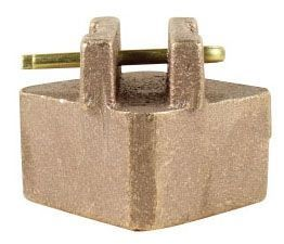 "2"" x 2"" x 1.84"", Brass, Square Head, Valve Wrench Adapter"