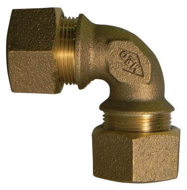 "1"" x 1"", T CTS Compression x T CTS Compression, Lead-Free, UNS C89833 Brass, 90D, Straight, Elbow"