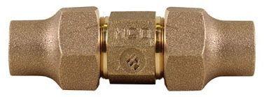"1"" x 1"", Copper Flare x Copper Flare, Lead-Free, UNS C89833 Brass, Straight, Coupling"