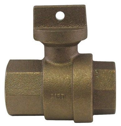 """2"""", FPT x FPT, 300 PSIG, Lead-Free, Brass, Ball, Regular Pattern, Curb Stop"""