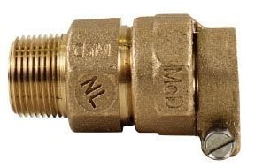 "1"" x 3/4"", -33 PEP Compression x MPT, Lead-Free, UNS C89833 Brass, Reducing, Male Adapter"