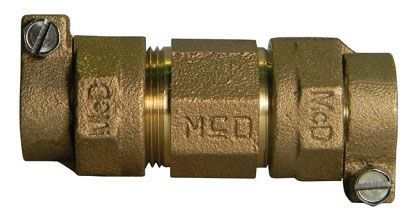 "1-1/4"" x 1-1/4"", -44 PVC Compression x -44 PVC Compression, Lead-Free, UNS C89833 Brass, Straight, Coupling"