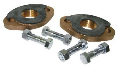 "2"" x 2"", Flanged x FPT, Lead-Free, UNS C89833 Brass, Oval, Meter Flange Kit"